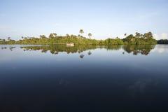 Remote Brazilian River Calm Reflection Stock Photos