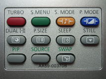 Remote buttons Stock Images