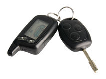Remote car key  on white background Royalty Free Stock Image