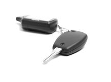 Remote car key  on white background Stock Images