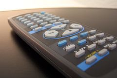 Remote control. DVD player remote control stock photography