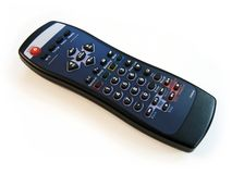 Remote control. Isolated remote control stock photography