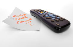 Remote control. On clean background Royalty Free Stock Photo