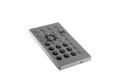 Remote control. Small remote control for portable DVD player royalty free stock image