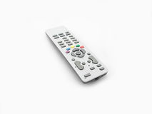 Remote control. With colored buttons isolated on white royalty free stock photo