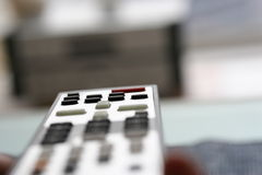 Remote Control. And audio equipment stock photo