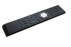 Remote Control. Cable TV Remote Control manufactured by Samsung isolated on White stock images
