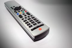 Remote Control. Silver remote control made of aluminum Royalty Free Stock Photos