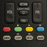 Remote control. Black remote control close up Stock Image