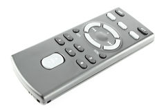 Remote control. Car audio remote control on a white background Royalty Free Stock Photography