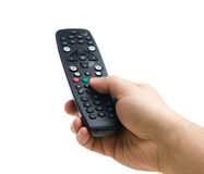 Hand Holding Remote Control Isolated stock image