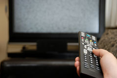 Remote Control. Change the channel Royalty Free Stock Image