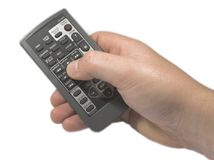 Remote Control. Hand holding a Remote Control Stock Image