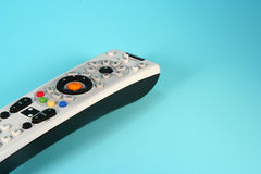 Remote Control. Colorful remote control on a light blue background Royalty Free Stock Image