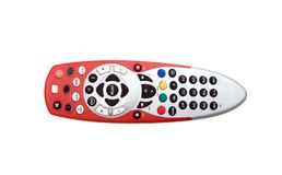 Remote control. TV remote control isolated on white royalty free stock image