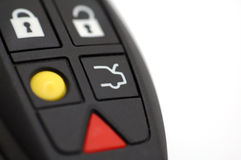 Remote control. Car remote control on white background Stock Photography