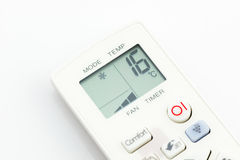 Remote control air conditioner on 16 degrees celsius isolated Stock Image
