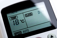 Remote control air conditioning Royalty Free Stock Photography