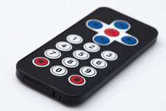Remote control black on white background Royalty Free Stock Photos