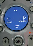 Remote Control  Blue button, deatils Stock Image