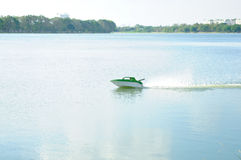 Remote control boat. Show water sport activity Royalty Free Stock Images