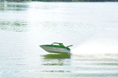 Remote control boat. Show water sport activity Royalty Free Stock Photography