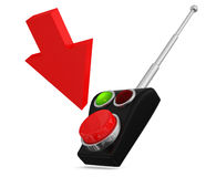 Remote control button Royalty Free Stock Photos