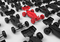 Remote control car target in crowd concept Royalty Free Stock Images