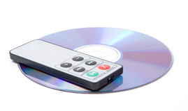 Remote control and CD Royalty Free Stock Image