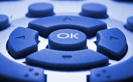 Remote control colorized in blue Stock Images