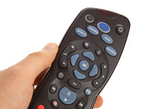 Remote control for digital satellite television Stock Photos