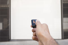 Remote control with the door closed Stock Images