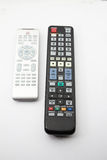 Remote control for electronic devices. On isolated white background Royalty Free Stock Photo