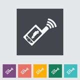 Remote control flat icon Royalty Free Stock Images