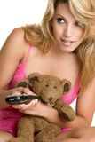 Remote Control Girl Royalty Free Stock Image