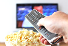 Remote control in the hand Stock Image