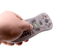 Remote Control in Hand Isolated Royalty Free Stock Image