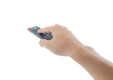 Remote control in hand Royalty Free Stock Images