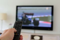 Remote Control in a Hand Royalty Free Stock Photography