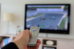 Remote Control in a Hand Stock Image