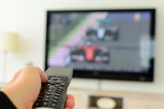 Remote Control in a Hand Royalty Free Stock Photos