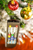 Remote Control. Holiday shopping background Stock Photos