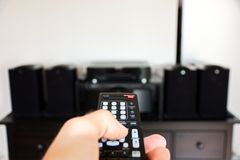 Remote control. Of home speakers Stock Images
