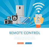 Remote control for household appliances concept Stock Photography