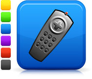Remote control icon on square internet button Royalty Free Stock Images