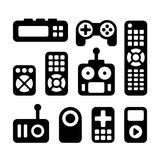 Remote Control Icons Set Stock Photo
