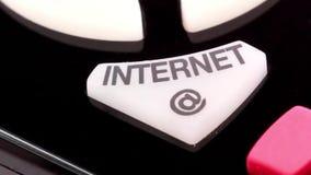 Remote control. Internet button stock video