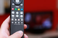 Remote control of internet tv Stock Photos