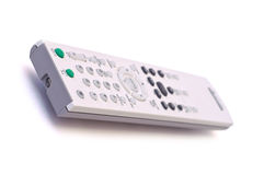 Remote control isolated. DVD and TV remote control isolated on white Stock Photography