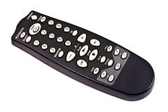 Remote control isolated on the white. Black remote control isolated on the white Royalty Free Stock Image